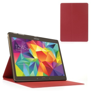 Red Sand-like Texture Smart Leather Stand Cover for Samsung Galaxy Tab S 10.5-inch T800