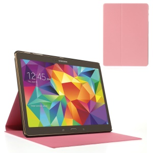 Pink Sand-like Texture Smart Leather Case w/ Stand for Samsung Galaxy Tab S 10.5-inch T800