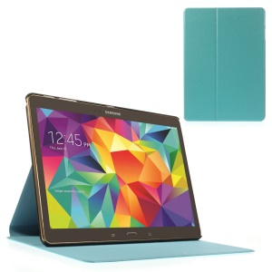 Blue Sand-like Texture Smart Leather Cover w/ Stand for Samsung Galaxy Tab S 10.5-inch T800