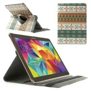 Tribal Snowflake 360 Rotary Stand Leather Cover for Samsung Galaxy Tab S 10.5-inch T800 T805