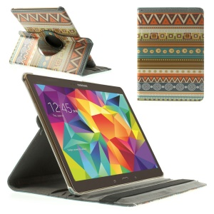Tribal Circles & Squares 360 Rotary Stand Leather Case for Samsung Galaxy Tab S 10.5-inch T800 T805