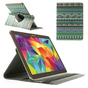 Green Tribe Triangles 360 Rotary Leather Stand Case for Samsung Galaxy Tab S 10.5-inch T800 T805