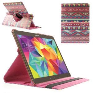 Rose Tribe Triangles 360 Rotary Stand Leather Tablet Case for Samsung Galaxy Tab S 10.5-inch T800 T805