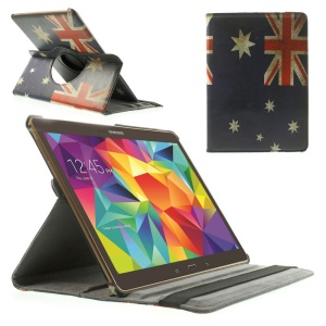 Flag of Australia 360 Rotary Stand Leather Cover Case for Samsung Galaxy Tab S 10.5-inch T800 T805