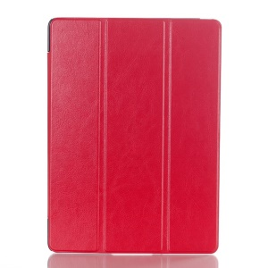 Tri-fold Stand Crazy Horse Leather Smart Cover for Samsung Galaxy Tab S 10.5 T800 T805 - Red