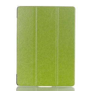 Tri-fold Stand Crazy Horse PU Leather Smart Case for Samsung Galaxy Tab S 10.5 T800 T805 - Green
