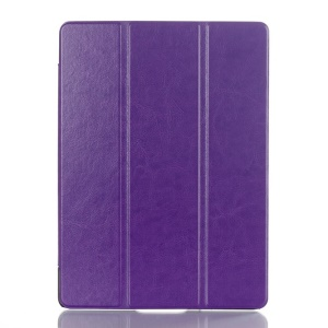 Crazy Horse Smart Leather Cover w/ Tri-fold Stand for Samsung Galaxy Tab S 10.5 T800 T805 - Purple