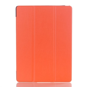 Litchi Skin Smart Leather Case w/ Tri-fold Stand for Samsung Galaxy Tab S 10.5 T800 T805 - Orange