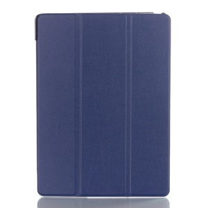 Litchi Skin Tri-fold Stand Leather Smart Case for Samsung Galaxy Tab S 10.5 T800 T805 - Dark Blue