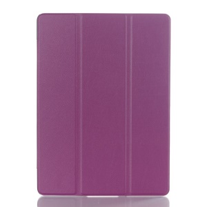 Litchi Skin Tri-fold Smart Leather Stand Case for Samsung Galaxy Tab S 10.5 T800 T805 - Purple