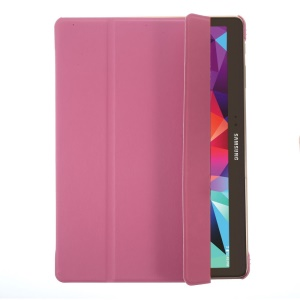 Tri-fold Smart Leather Case w/ Stand for Samsung Galaxy Tab S 10.5 T800 T805 - Rose