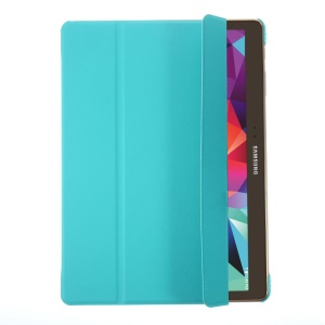 Tri-fold PU Leather Smart Cover w/ Stand for Samsung Galaxy Tab S 10.5 T800 T805 - Baby Blue