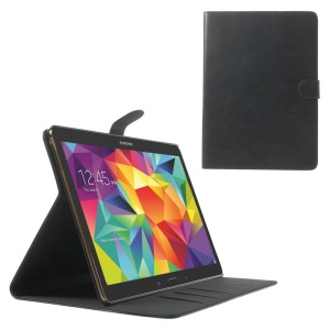 Black Textured Leather Magnetic Case w/ Stand for Samsung Galaxy Tab S 10.5 T800 T805