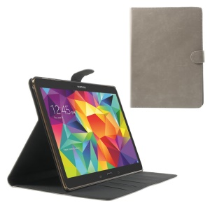 Grey Textured Leather Magnetic Cover w/ Stand for Samsung Galaxy Tab S 10.5 T800 T805
