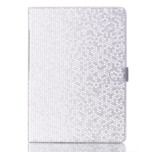 For Samsung Galaxy Tab S 10.5 T800 T805 Football Grain Magnetic Smart Leather Stand Cover - White