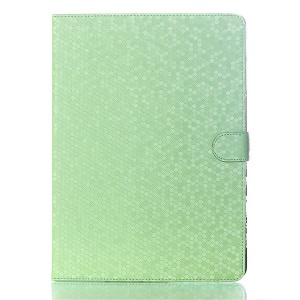 For Samsung Galaxy Tab S 10.5 T800 T805 Football Grain Magnetic Smart Leather Shell w/ Stand - Green