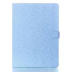 For Samsung Galaxy Tab S 10.5 T800 T805 Football Grain Smart Leather Magnetic Case w/ Stand - Blue