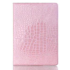 Crocodile Texture Smart Leather Cover w/ Stand for Samsung Galaxy Tab S 10.5 T800 T805 - Pink