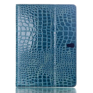 Crocodile Texture Smart Leather Case Cover w/ Stand for Samsung Galaxy Tab S 10.5 T800 T805 - Blue