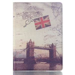 Smart Leather Stand Case for Samsung Galaxy Tab S 10.5 T800 T805 - UK Flag & London Bridge