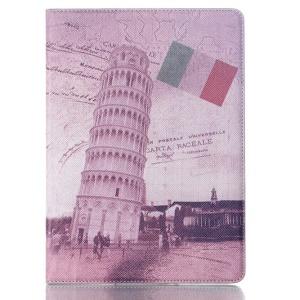 Smart Leather Case for Samsung Galaxy Tab S 10.5 T800 T805 - French Flag & Leaning Tower of Pisa