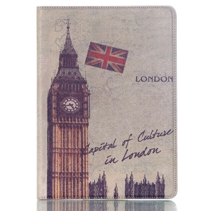 Smart Flip Leather Stand Cover for Samsung Galaxy Tab S 10.5 T800 T805 - UK Flag & Big Ben