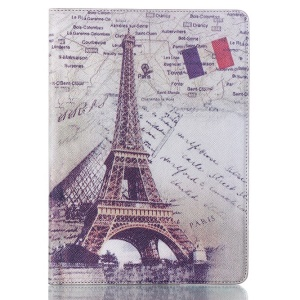 Smart Leather Stand Cover for Samsung Galaxy Tab S 10.5 T800 T805 - French Flag & Eiffel Tower