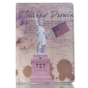 Smart PU Leather Case Cover for Samsung Galaxy Tab S 10.5 T800 T805 - US Flag & State of Liberty