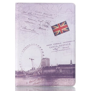 Smart Flip Leather Case Cover for Samsung Galaxy Tab S 10.5 T800 T805 - UK Flag & London Eye
