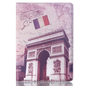 Smart PU Leather Case for Samsung Galaxy Tab S 10.5 T800 T805 - French Flag & Arch of Triumph