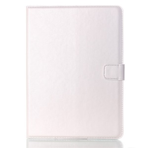 Oil Skin Smart Leather Wallet Cover for Samsung Galaxy Tab S 10.5 T800 T805 - White