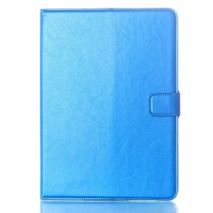 Oil Skin Smart PU Leather Wallet Case for Samsung Galaxy Tab S 10.5 T800 T805 - Blue