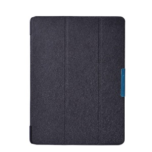 Black Silk Texture Leather Case w/ Tri-fold Stand for Samsung Galaxy Tab S 10.5 T800 T805