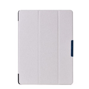White Silk Texture Leather Case w/ Tri-fold Stand for Samsung Galaxy Tab S 10.5 T800 T805