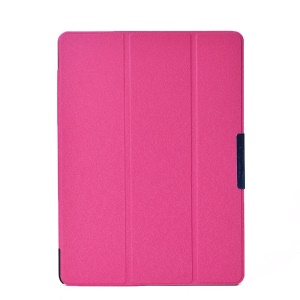 Rose Tri-fold Stand Silk Texture PU Leather Case for Samsung Galaxy Tab S 10.5 T800 T805