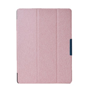 Champagne Silk Texture Tri-fold PU Leather Case for Samsung Galaxy Tab S 10.5 T800 T805