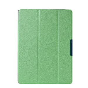 Green Silk Texture Tri-fold Leather Case Cover for Samsung Galaxy Tab S 10.5 T800 T805