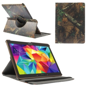 Green Leaves Tree Branches Leather Smart Cover w/ 360 Degree Rotary Stand for Samsung Galaxy Tab S 10.5 T800 T805