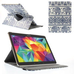 Elephant Geometric Pattern Smart Leather Cover w/ 360 Degree Rotary Stand for Samsung Galaxy Tab S 10.5 T800 T805