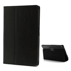 Premium PU Folio Leather Case Cover with Stand for Sony Xperia Tablet Z - Black