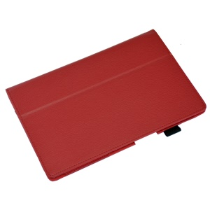 Red Lychee Skin Leather Stand Cover for Sony Xperia Z2 Tablet 10.1 inch
