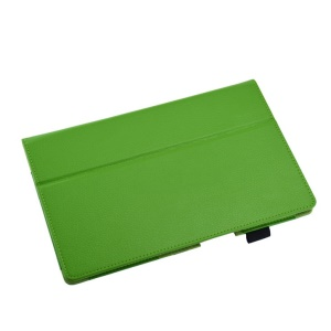 Green Lychee Skin Leather Cover w/ Stand for Sony Xperia Z2 Tablet 10.1 inch