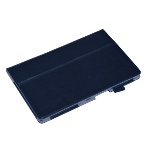Dark Blue PU Leather Stand Case for Sony Xperia Z2 Tablet 10.1 inch w/ Elastic Band