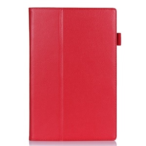 Red Litchi Skin Magnetic Leather Stand Case for Sony Xperia Z2 Tablet 10.1 inch