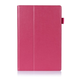 Rose Litchi Skin Magnetic Leather Stand Cover for Sony Xperia Z2 Tablet 10.1 inch