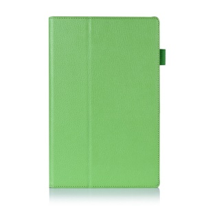 Green Litchi Skin PU Leather Case w/ Stand for Sony Xperia Z2 Tablet 10.1 inch