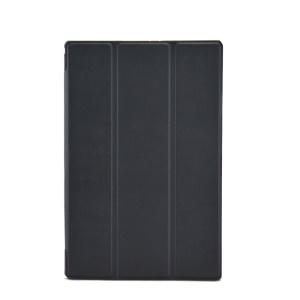 Black Tri-fold Stand Textured Smart Leather Case for Sony Xperia Z2 Tablet LTE SGP521 SGP541 SGP551 / Wi-Fi SGP511 SGP512