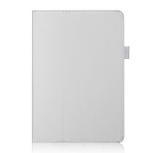 Magnetic Leather Card Holder Folio Cover w/ Stand & Elastic Band for ASUS Transformer Pad TF103C - White