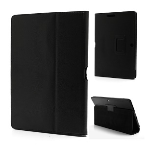 Portable Leather Stand Case for ASUS Transformer Pad TF300 TF301 - Black