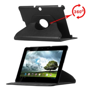 360 Degree Rotary Leechee Skin Leather Case for  ASUS Transformer Pad TF300 TF301